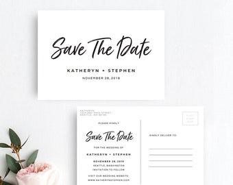 Rustic Save The Date Postcard Printable Template, Save The Date Postcard Printable Template, DIY Printable Save The Date Postcard Templates