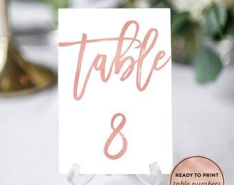 Diy Table Numbers Etsy