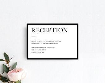 Minimalist Wedding Invitation Templates Modern Black White Etsy