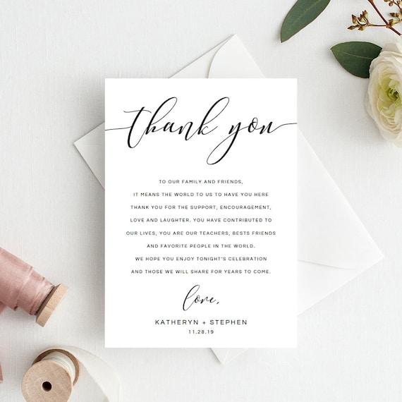 wedding thank you notes wedding thank you cards calligraphy etsy