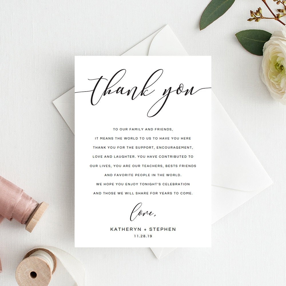 Wedding Gift Thank You Cards: Wedding Thank You Notes Wedding Thank You Cards