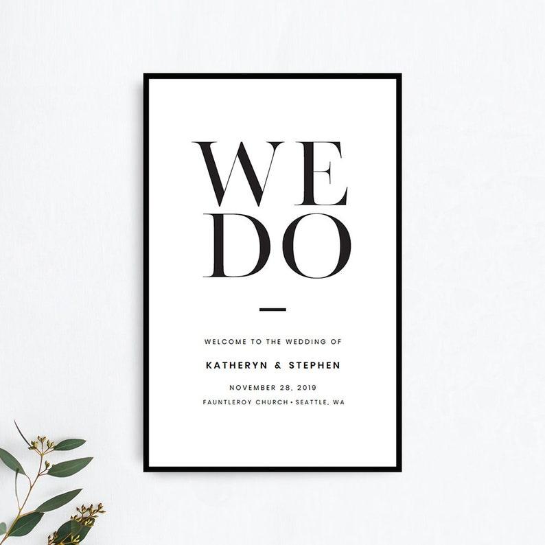 Minimalist Wedding Program Booklet Template, Printable Wedding Program  Booklet Template, Modern Simple Catholic Wedding Program Templates