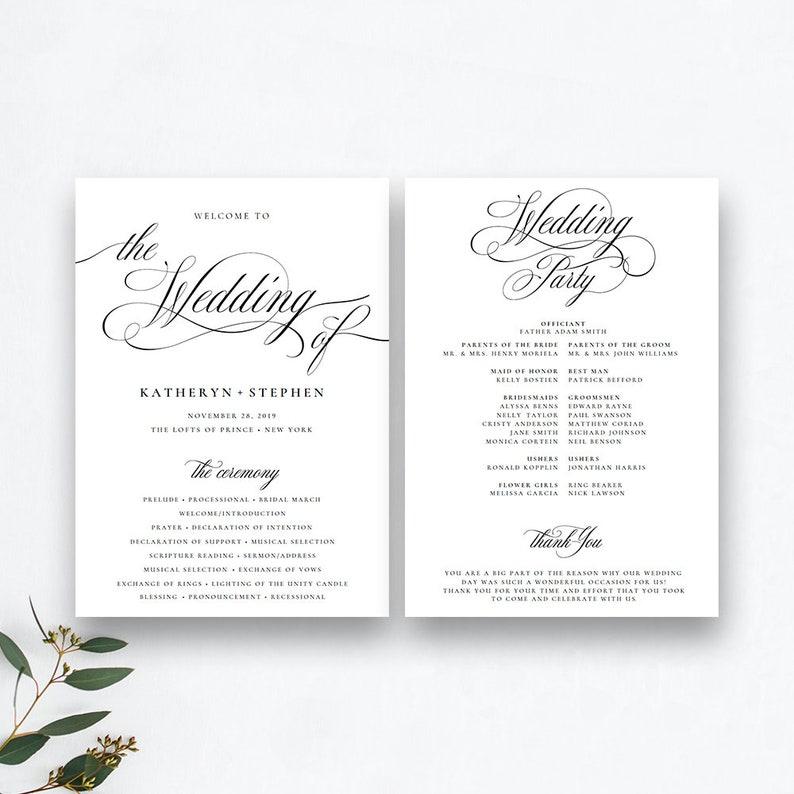 Wedding Programs Templates.Wedding Programs Templates Wedding Ceremony Programs Templates Printable Wedding Programs Template Diy Classic Elegant Wedding Programs