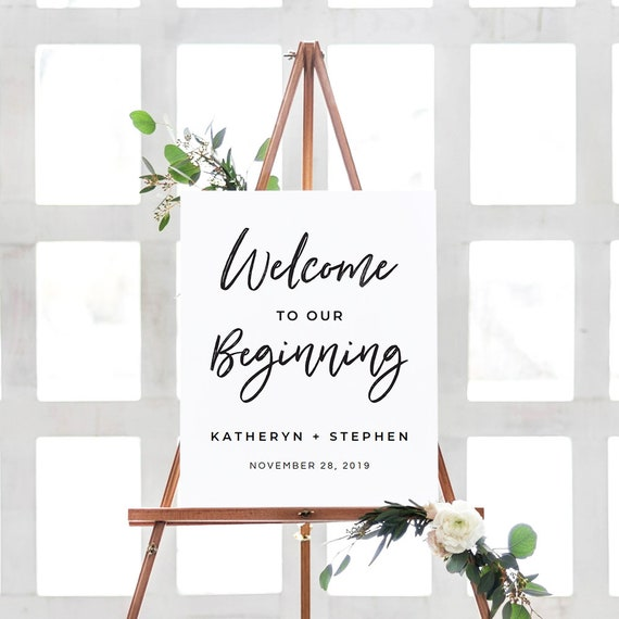 Wedding Welcome Sign Template Rustic Wedding Reception Etsy