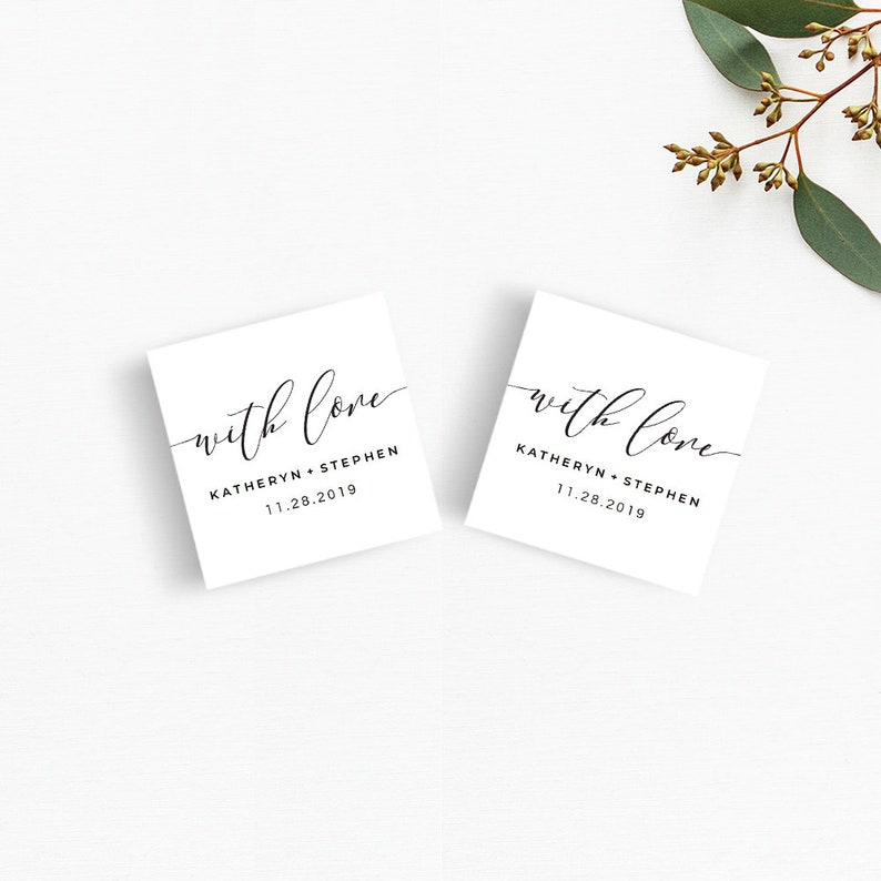 image regarding Printable Wedding Favor Tags called With Enjoy Printable Wedding ceremony Prefer Tags Template Black And White Wedding ceremony Thank Yourself Tag Printable Thank On your own Tags Marriage ceremony Quick Down load