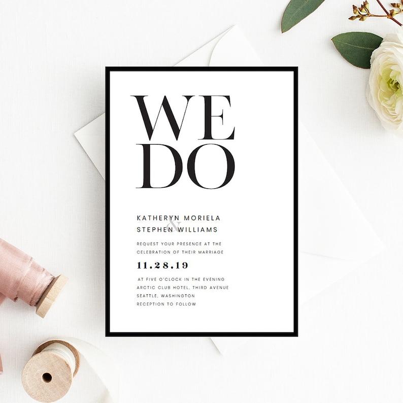Wedding Invitation Templates.Minimalist Wedding Invitation Templates Modern Simple Invitation Templates Printable Minimal Black Border Wedding Invitations Template