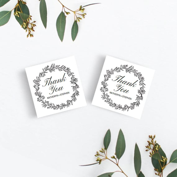 thank you wedding favor tags template download printable etsy