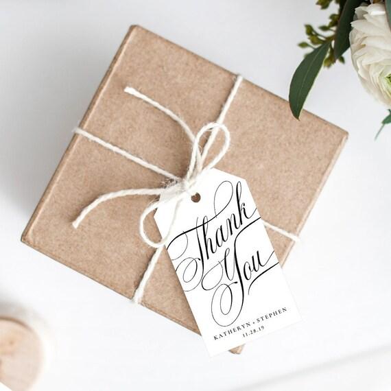 Wedding Favor Tags Printable Wedding Favor Tags Thank You | Etsy