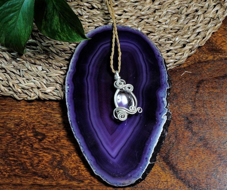 Crystal Quartz Necklace Crystal Necklace Raiki Cristal Energy Stone Cuarzo Crystal Quartz Pendant Boho Stile Necklace Boho Necklace