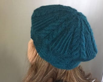 Handmade Cable Knit Beret