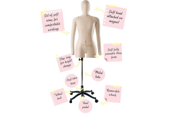 Dress Form Mannequin Eva Female Fully Pinnable Sewing Soft Tailor  Black XXS-XXX