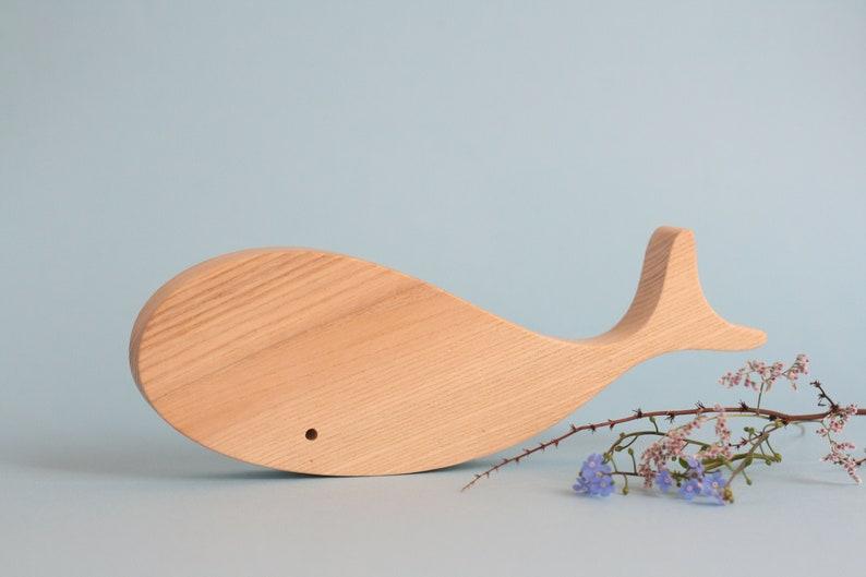handmade wooden whale polar animals wooden toy waldorf toy image 0