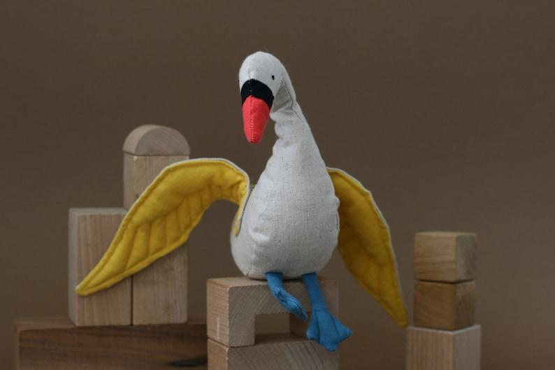 Lockdown Animals Swan organic plushie swan ecofriendly toy image 0