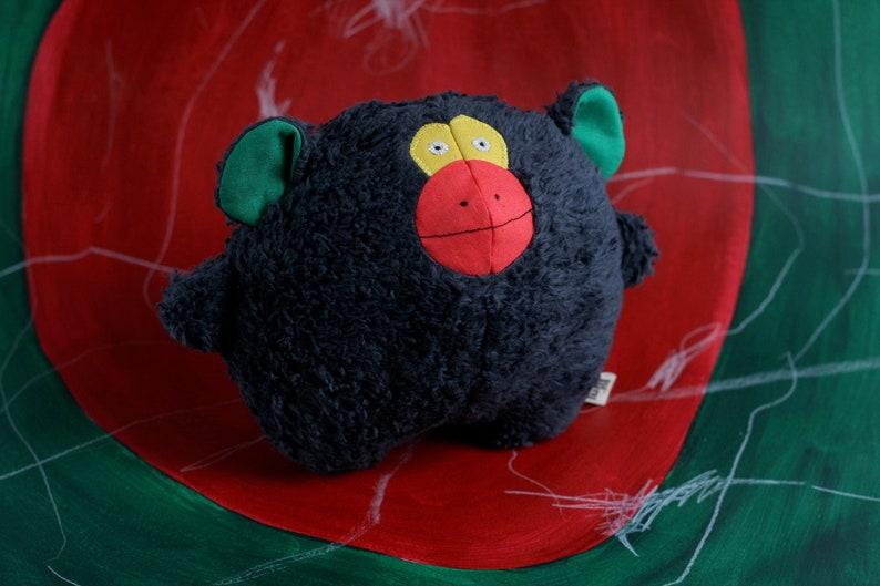 Handmade soft toy monkey organic plushie baby shower gift image 0