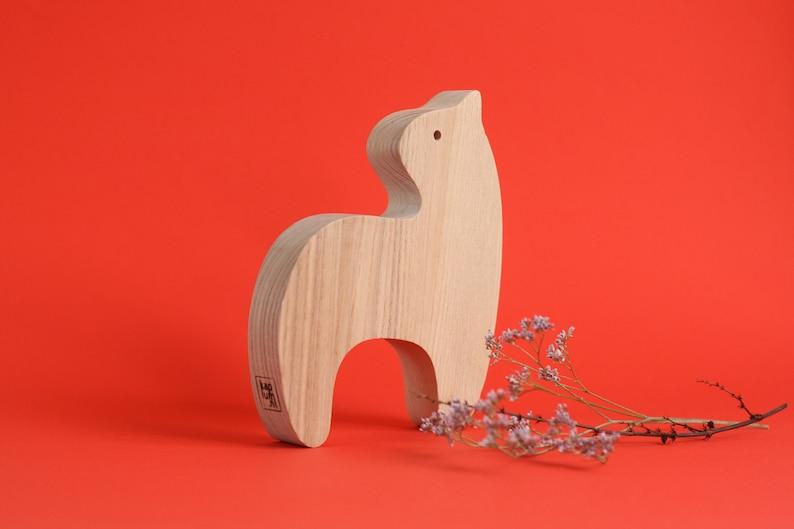 Handmade wooden tiger toy wooden toy toddler gift children image 0