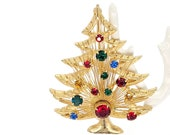 Vintage Brooks Harp Christmas Tree Brooch Retro Women 39 s Costume Jewelry Brooches and Pins
