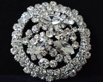 Brooch Juliana D&E Hallmarks Very Large Breathtaking Rhinestone Brooch With Multi-Dimensionality Vintage