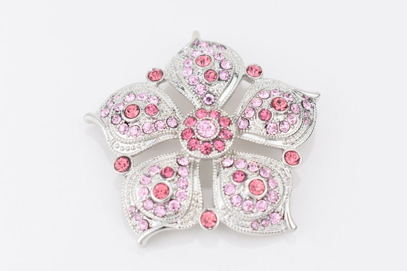 f047d6d6e2 Brooch Monet Pink Rhinestone Large Statement 2 1/2 Inch Vintage and Retro  Women's Brooches Pins Gifts for Women Wedding Prom Dress Up