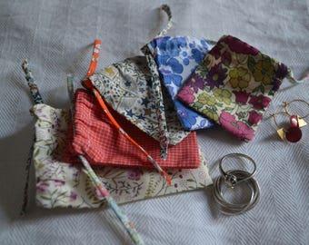 Set of 5 mini pouches jewelry