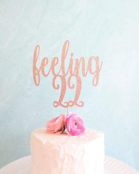 Remarkable Feeling 22 Cake Topper Glitter Verjaardagstaart Topper 22E Etsy Personalised Birthday Cards Akebfashionlily Jamesorg
