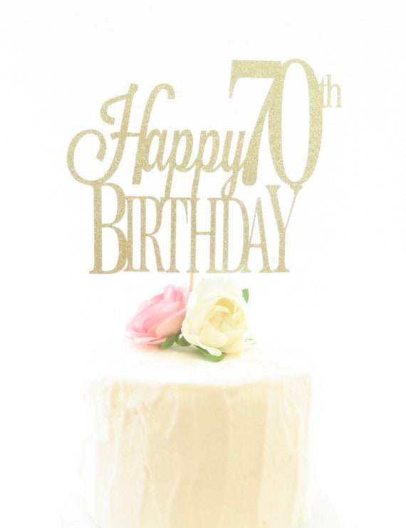 Prime Happy Birthday Cake Topper 70Th Birthday Cake Topper Etsy Funny Birthday Cards Online Aboleapandamsfinfo