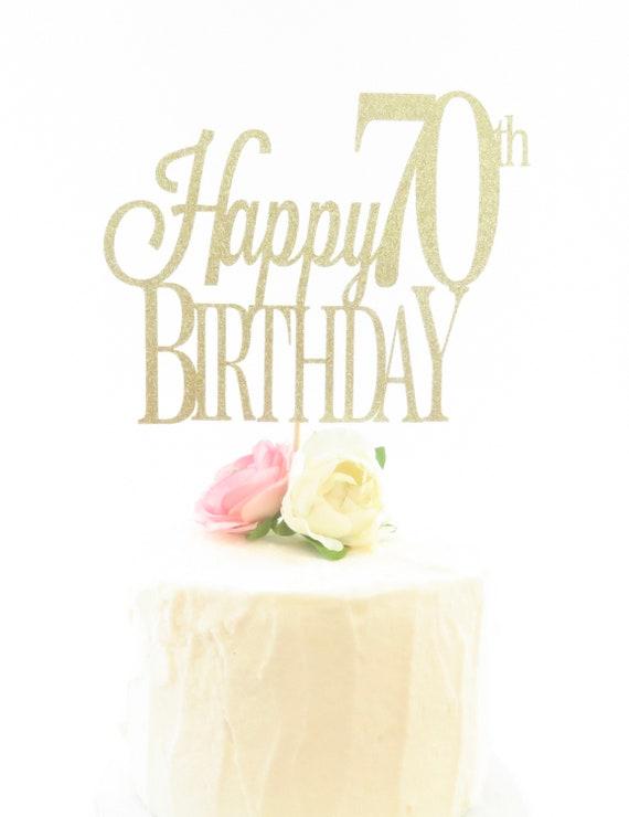 Astounding Happy Birthday Cake Topper 70Th Birthday Cake Topper Etsy Funny Birthday Cards Online Kookostrdamsfinfo