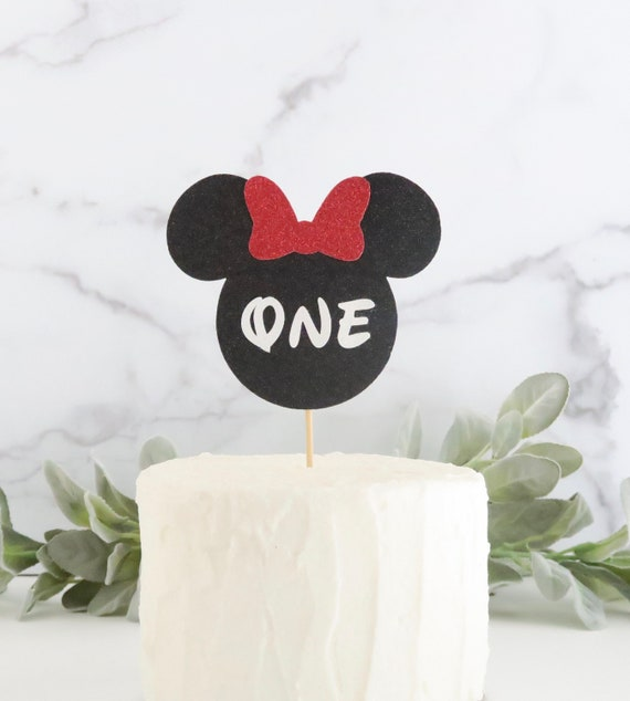 Wondrous Minnie Mouse First Birthday Cake Topper 1St Birthday Cake Etsy Funny Birthday Cards Online Inifodamsfinfo