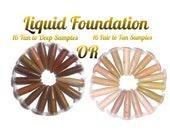 15 Sample Shades,LQUID FOUNDATION,Aloe VERA,mineral,natural,vegan,powder,liquid,organic,cream,light,sample,bb cream,tinted moisturizer