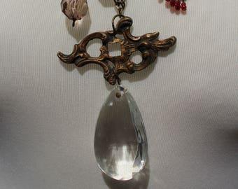 Unique Handmade Steampunk Necklace using repurposed materials