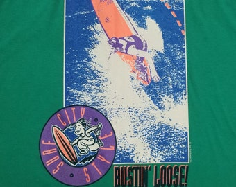 Vintage Surfer Tank Top, Bustin' Loose! Surf City Style