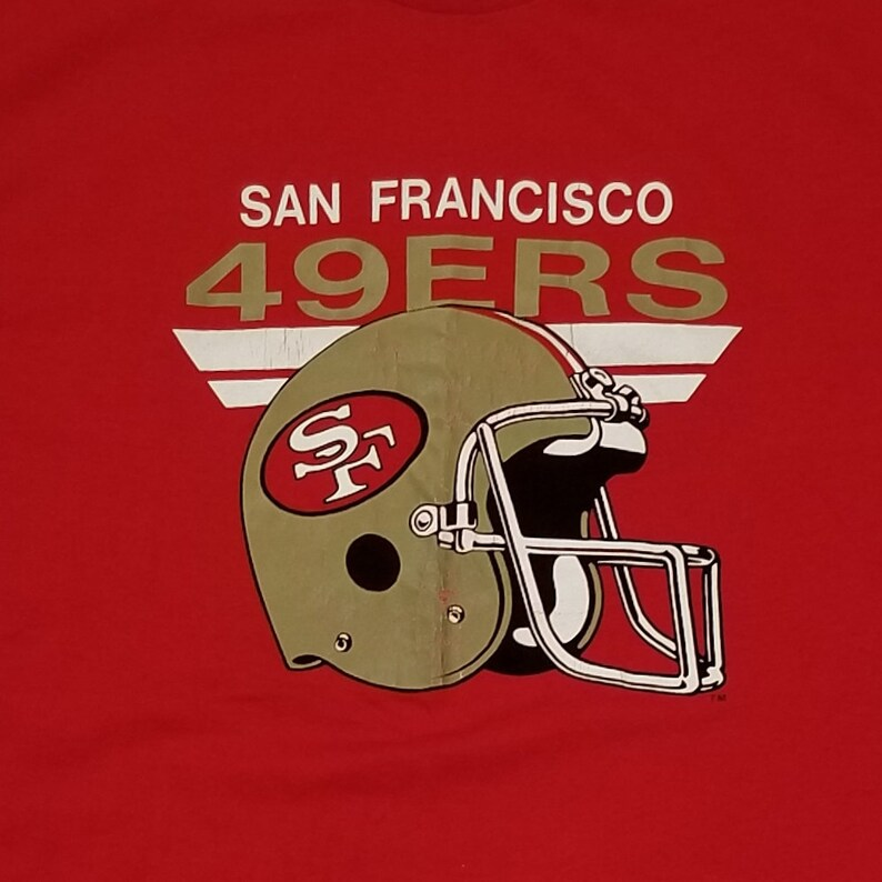 81a24284e Vintage San Francisco 49ers T Shirt 80s NFL Football T-Shirt