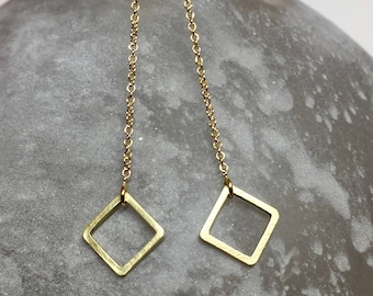 Don't be a square threader earrings