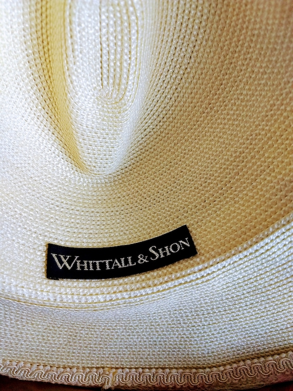 VTG  Whittall & Shon Hat/Large Brim Spring Hat/Cr… - image 10