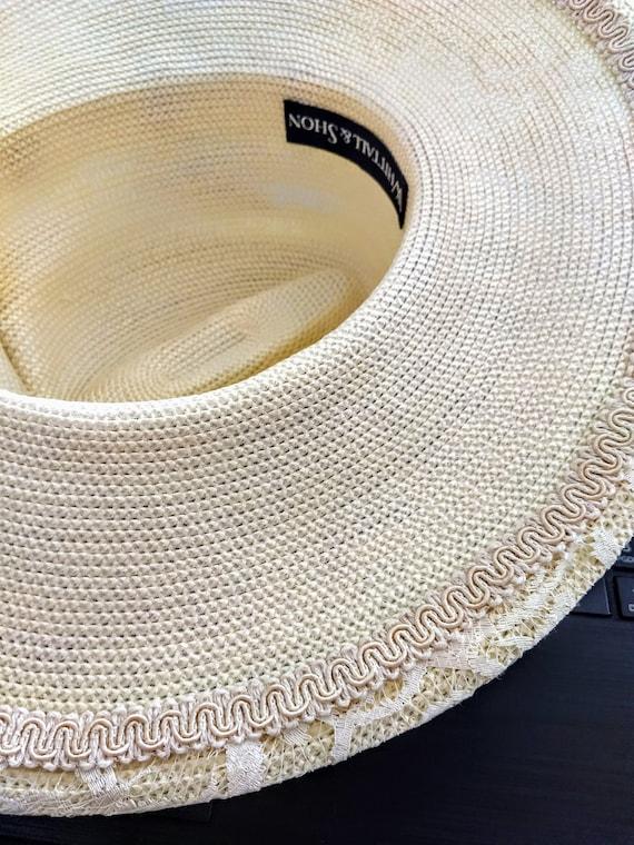 VTG  Whittall & Shon Hat/Large Brim Spring Hat/Cr… - image 5