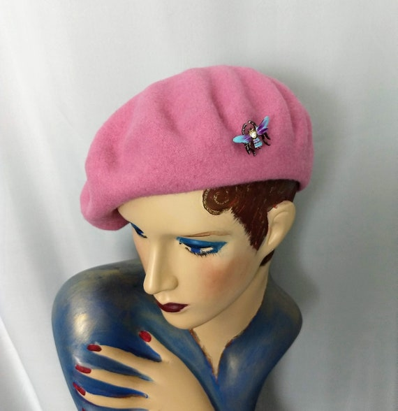 French Beret,Pink Beret,Slouchy Hat,Best Quality W