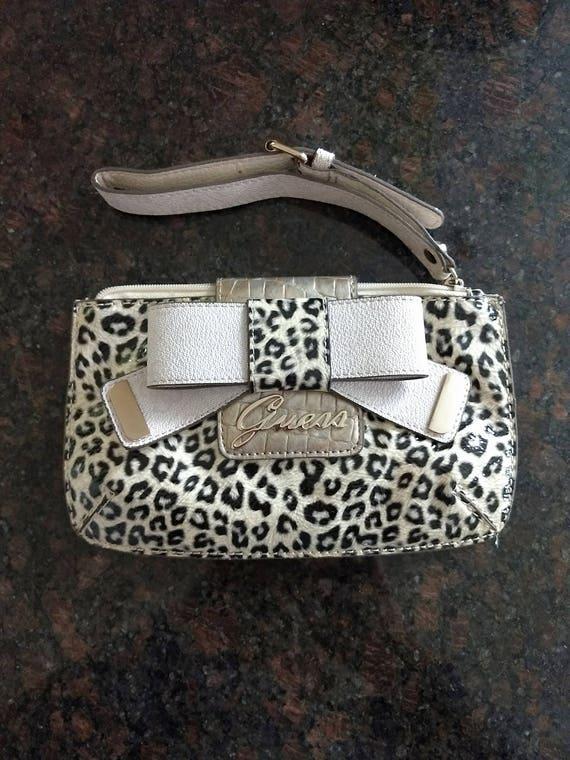 Vintage Guess leopard print purse