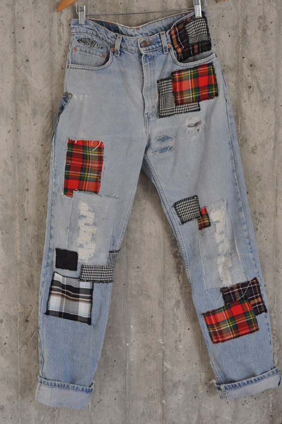 Distressed Vintage Boyfriend JeansHipster JeansAll | Etsy
