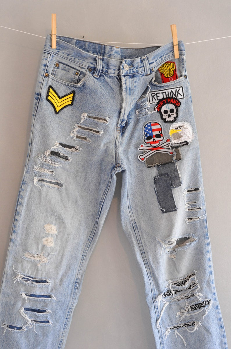 f9133b4e1dfa9 Levis 501 Vintage High Waist Denim Jeans Medium Blue Wash