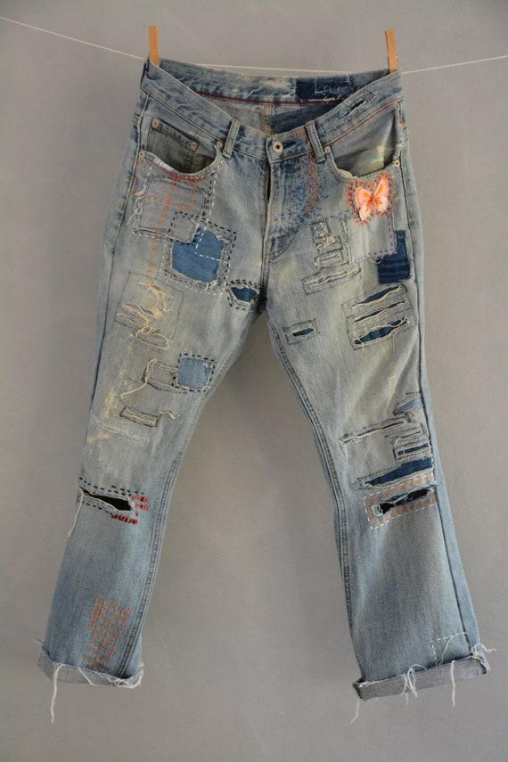 32ca29460e5c0 Levi s 501 Vintage High Waist Denim Jeans Medium Blue Wash
