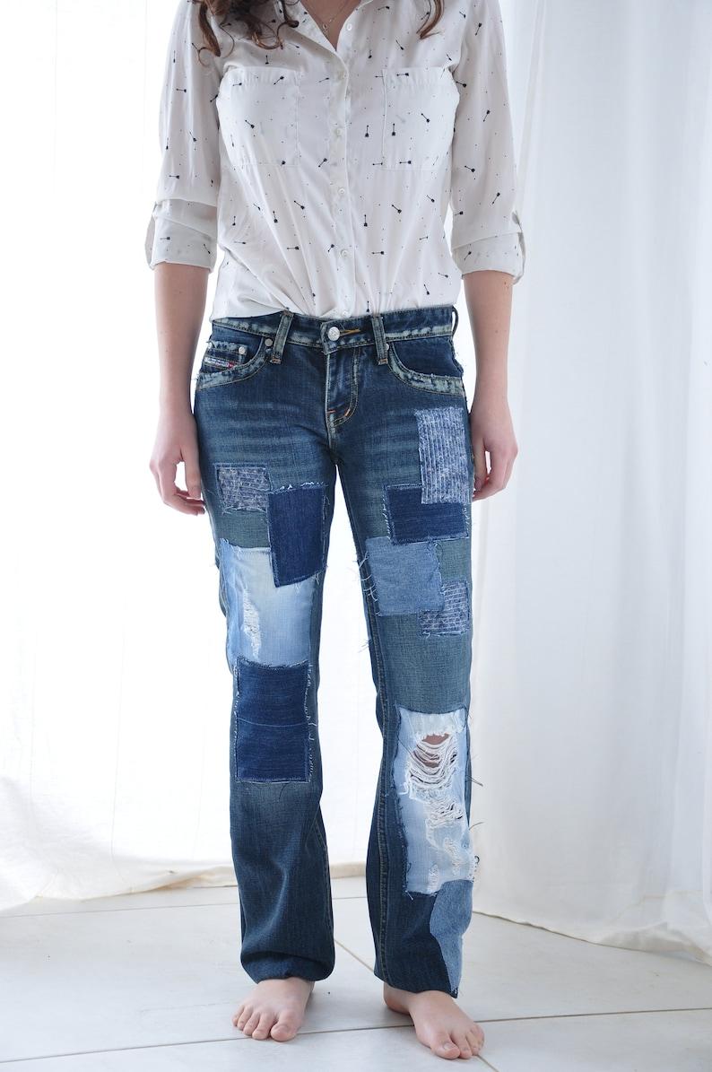 abd1d7a5ec87 Levi s 501 Vintage High Waist Denim Jeans Medium Blue Wash
