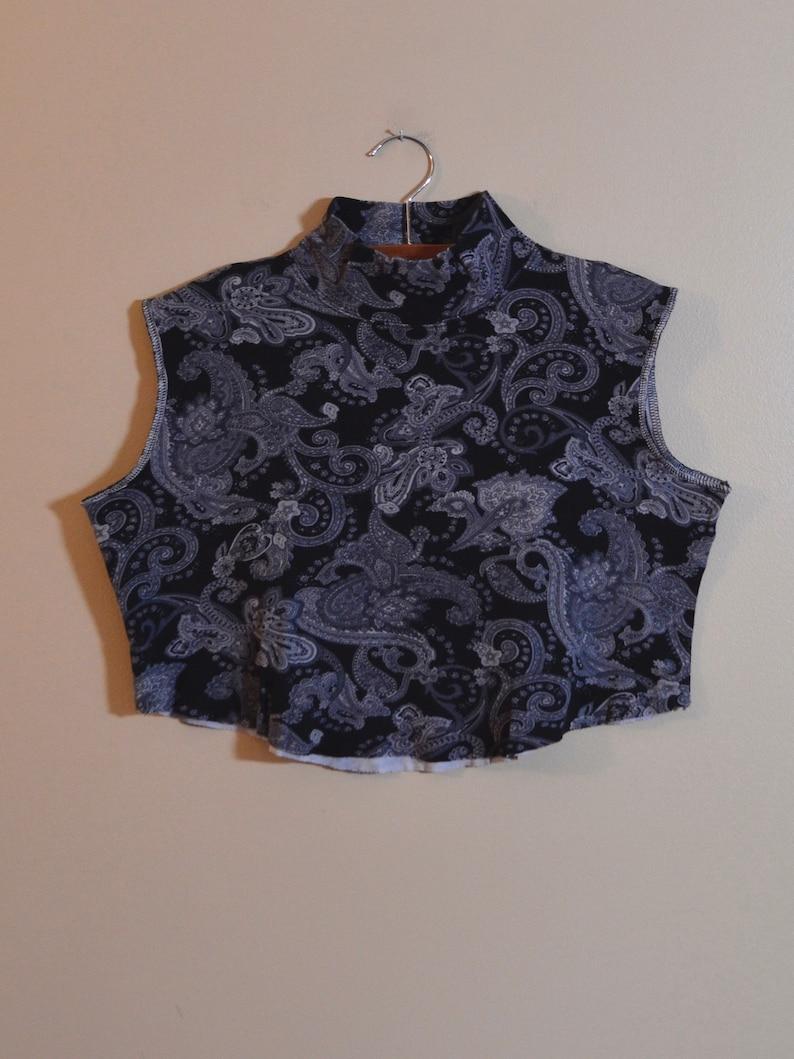 9a2ef8d14474e Sleeveless Mock Neck Crop Top Boxy Shirt Tank Top Black
