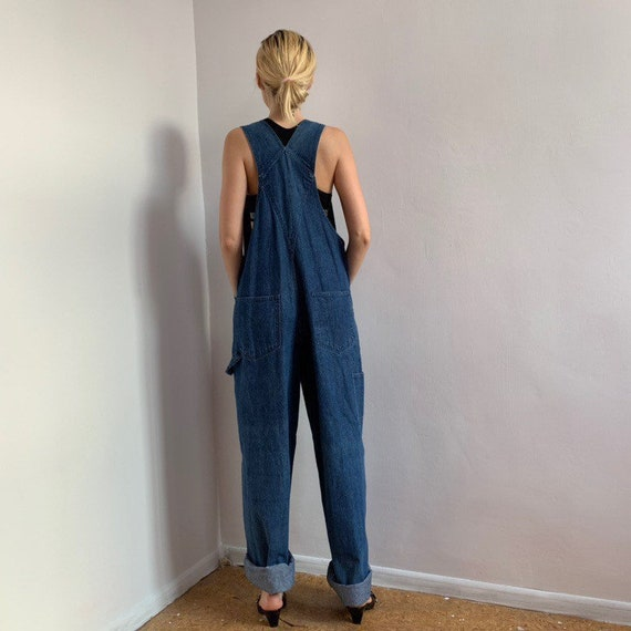 Vintage 90s denim escada dungarees jeans overall … - image 3