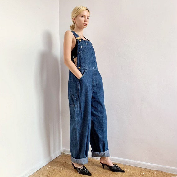 Vintage 90s denim escada dungarees jeans overall … - image 2