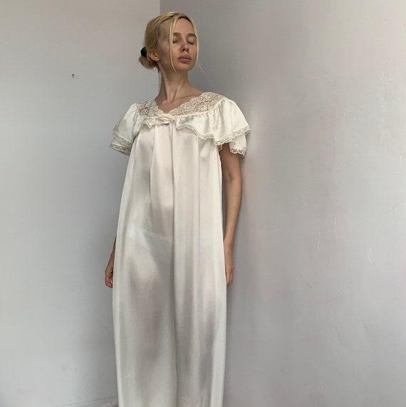 70s satin slip dress ivory liquid satin silky maxi