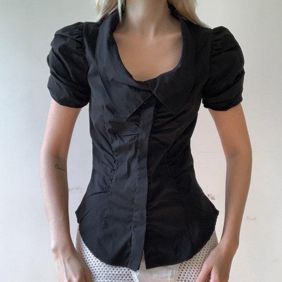 Vintage Prada corset top black Prada blouse Prada