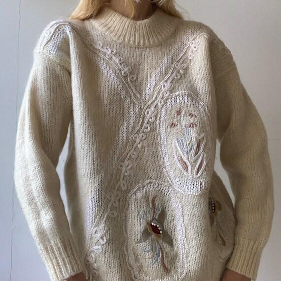 Mohair wool blend vintage 80s 90s sweater jumper e