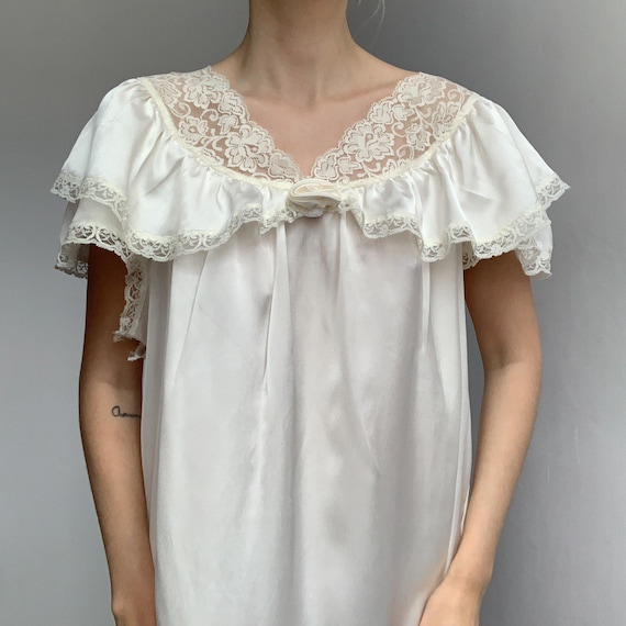 70s satin slip dress ivory liquid satin silky maxi