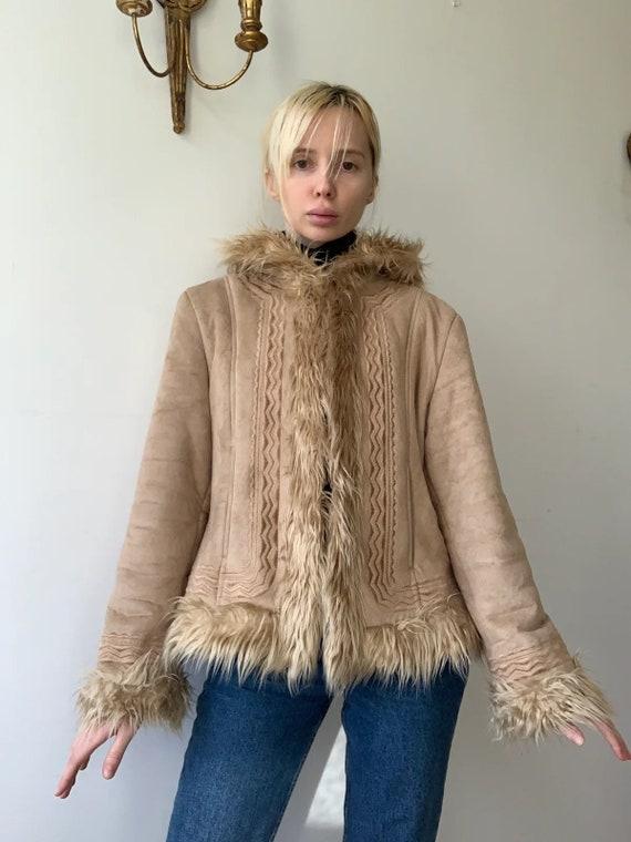 Cropped faux fur Afghan coat penny lane coat jacke