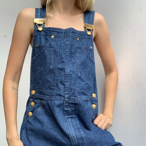 Vintage 90s denim escada dungarees jeans overall … - image 4