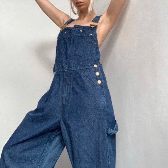 Vintage 90s denim escada dungarees jeans overall … - image 1